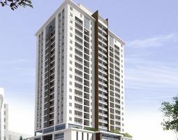 3D Models Detailed High Rise Building