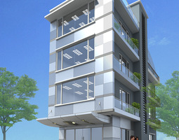 3D Models Small Office Building