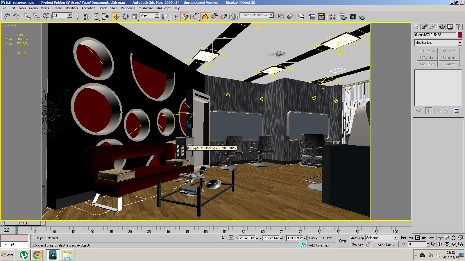 Barber shop or beauty salon 3d model max for 3d salon design software