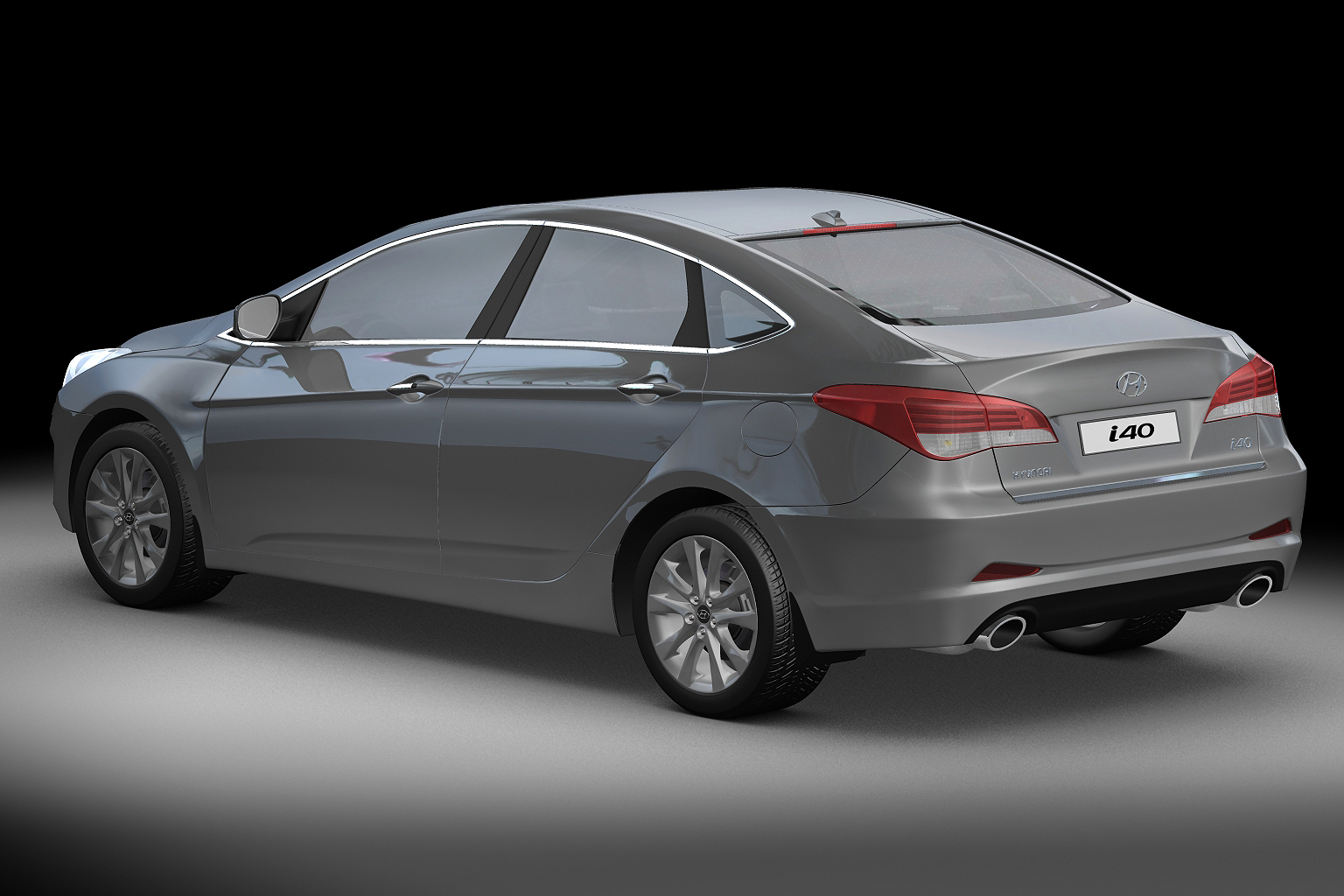 2012 hyundai i40 sedan 3d model max obj 3ds fbx c4d lwo lw lws. Black Bedroom Furniture Sets. Home Design Ideas
