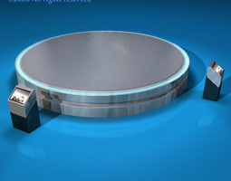 Expo platform turntables 3D Model
