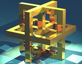 3D model Leonardo da vinci cube