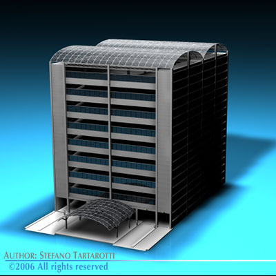 Car parking building3D model