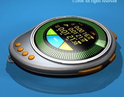 Future chronometer 3D model