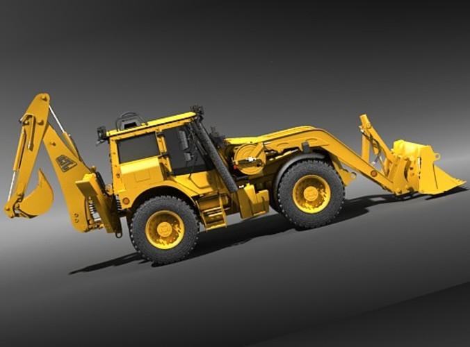 jcb excavator - extractor 3d model max 3ds 1