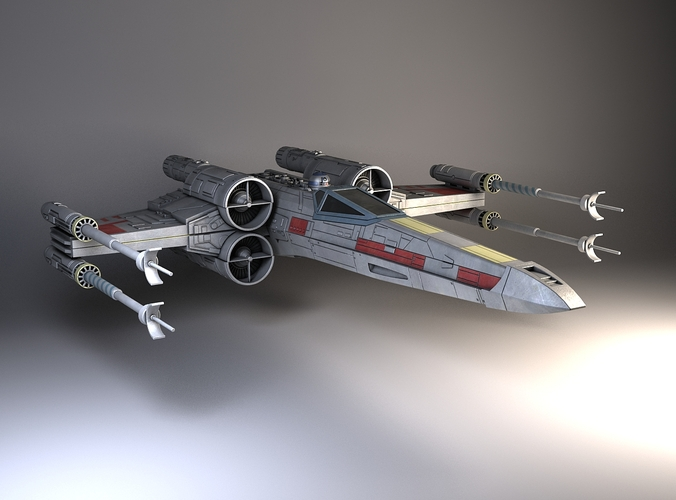 star wars x-wing fighter 3d model max obj mtl 3ds fbx c4d lwo lw lws 1