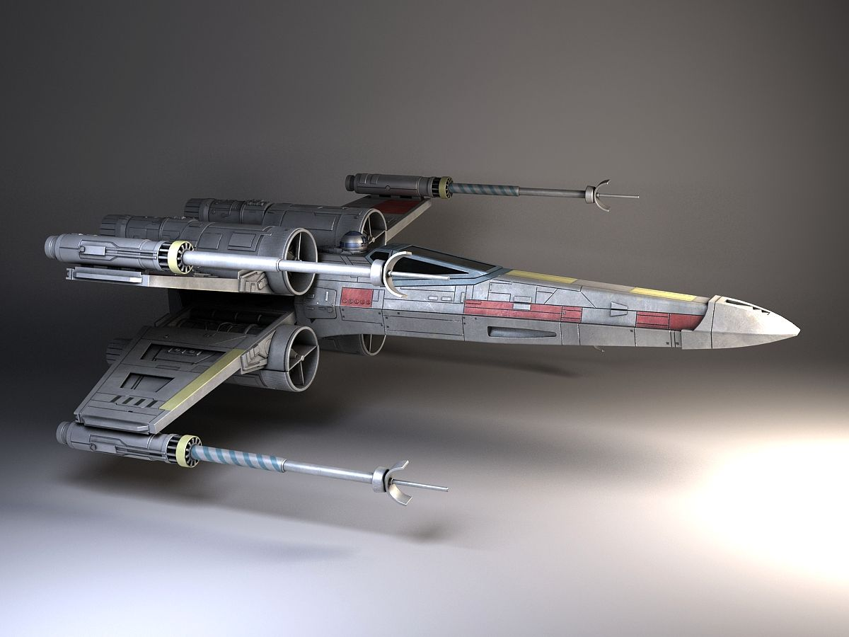 star wars x wing fighter 3d model max obj 3ds fbx c4d. Black Bedroom Furniture Sets. Home Design Ideas