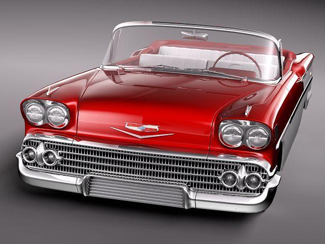 chevrolet bel air 1958 convertible 3d model max obj 3ds fbx lwo lw lws 2