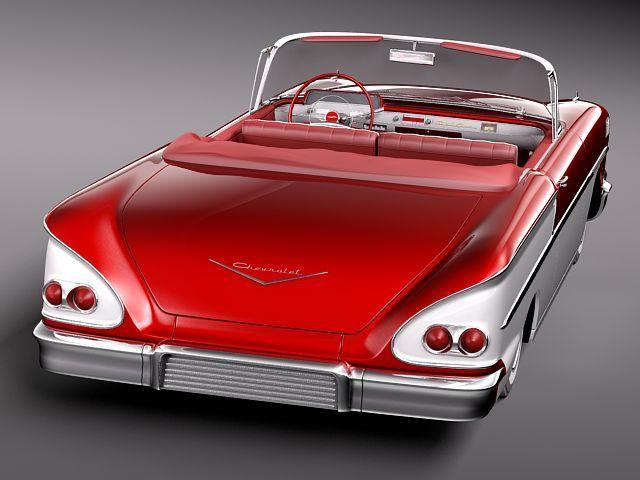 chevrolet bel air 1958 convertible 3d model max obj 3ds fbx lwo lw lws 6