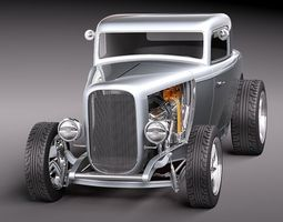 HOT ROD Ford 32 multiple versions 3D Model