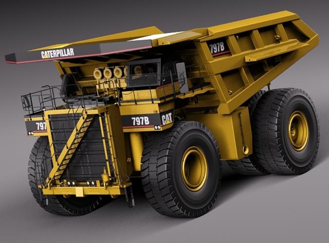 cat haul truck 797b 3d model max obj mtl 3ds fbx c4d lwo lw lws 1