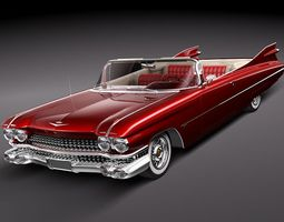 Cadillac Eldorado 62 series 1959 convertible 3D Model