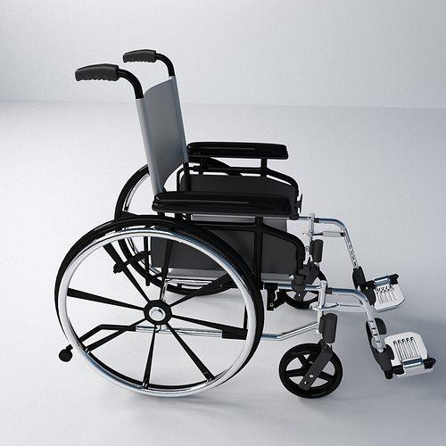wheelchair 3d model 3ds fbx blend dae 1