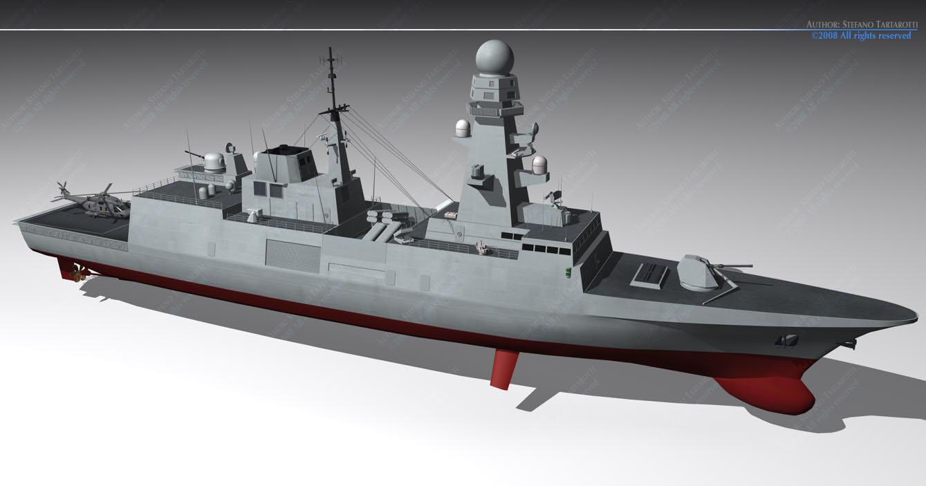 FREMM multipurpose frigate 3D Model OBJ 3DS FBX C4D DXF ...