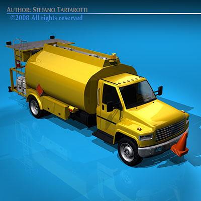 airport fuel truck 3d model obj 3ds c4d dxf 1