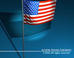 3D Flag Usa