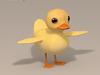 Duck cartoon character 3D Model