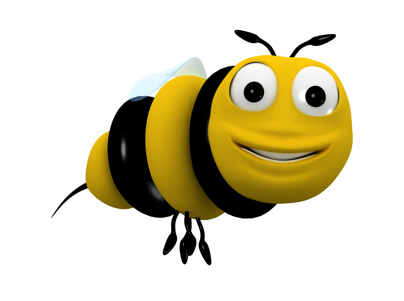 3 Cartoon Character Images : Bee cartoon character d model animated rigged max obj