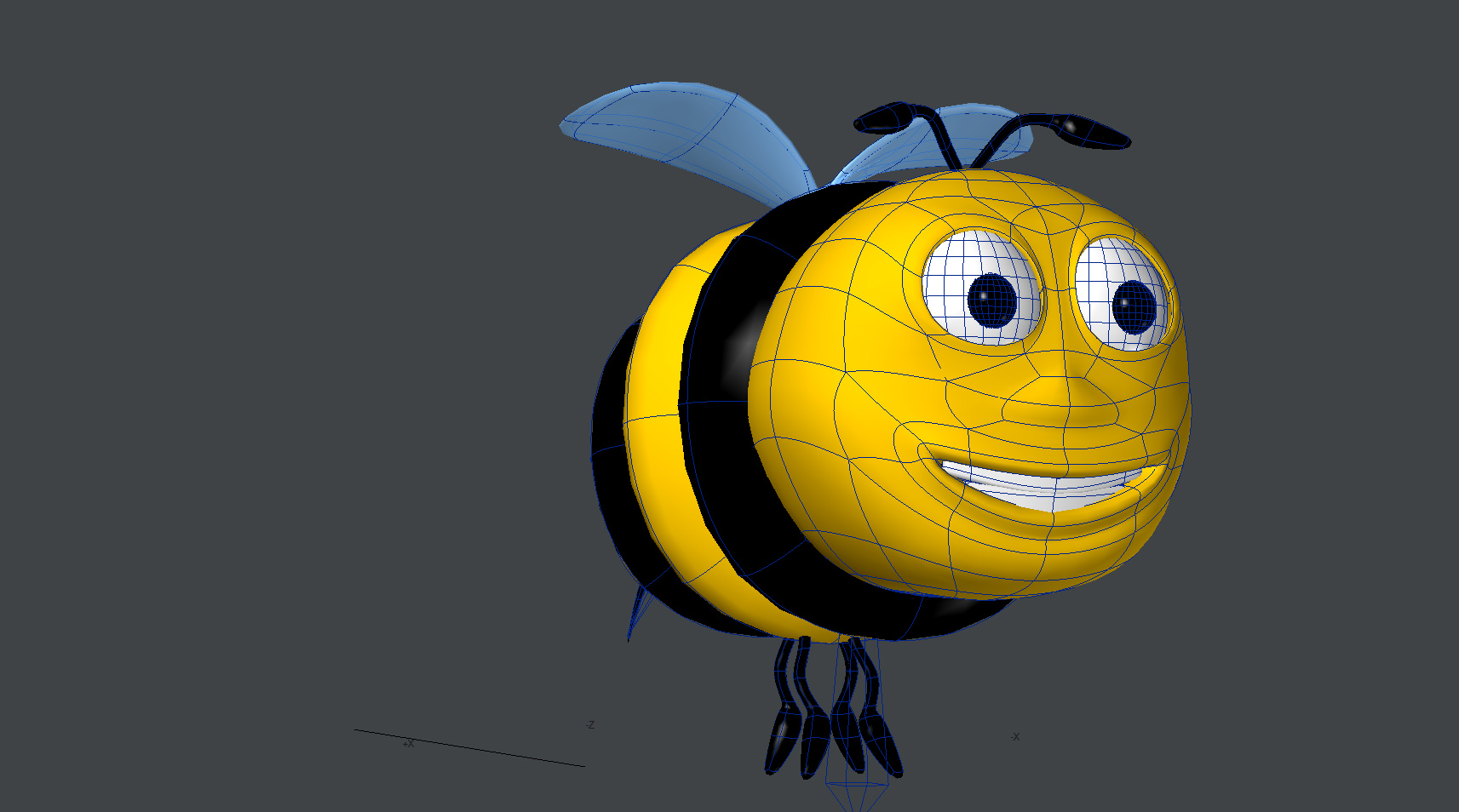Bee Cartoon Character 3d Model Animated Rigged Max Obj