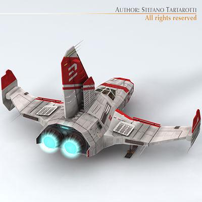 3D Spaceship with landing dock | CGTrader