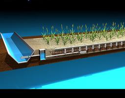 3D Constructed wetland