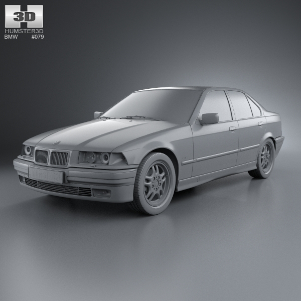 bmw 3 series e36 sedan 1994 3d model max obj 3ds fbx c4d lwo lw lws. Black Bedroom Furniture Sets. Home Design Ideas
