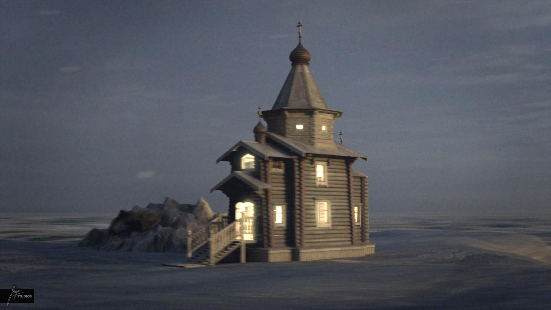 Trinity Church Antarctica 3d Model Max Obj Fbx Dxf