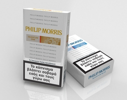 3d model philip morris cigarette pack