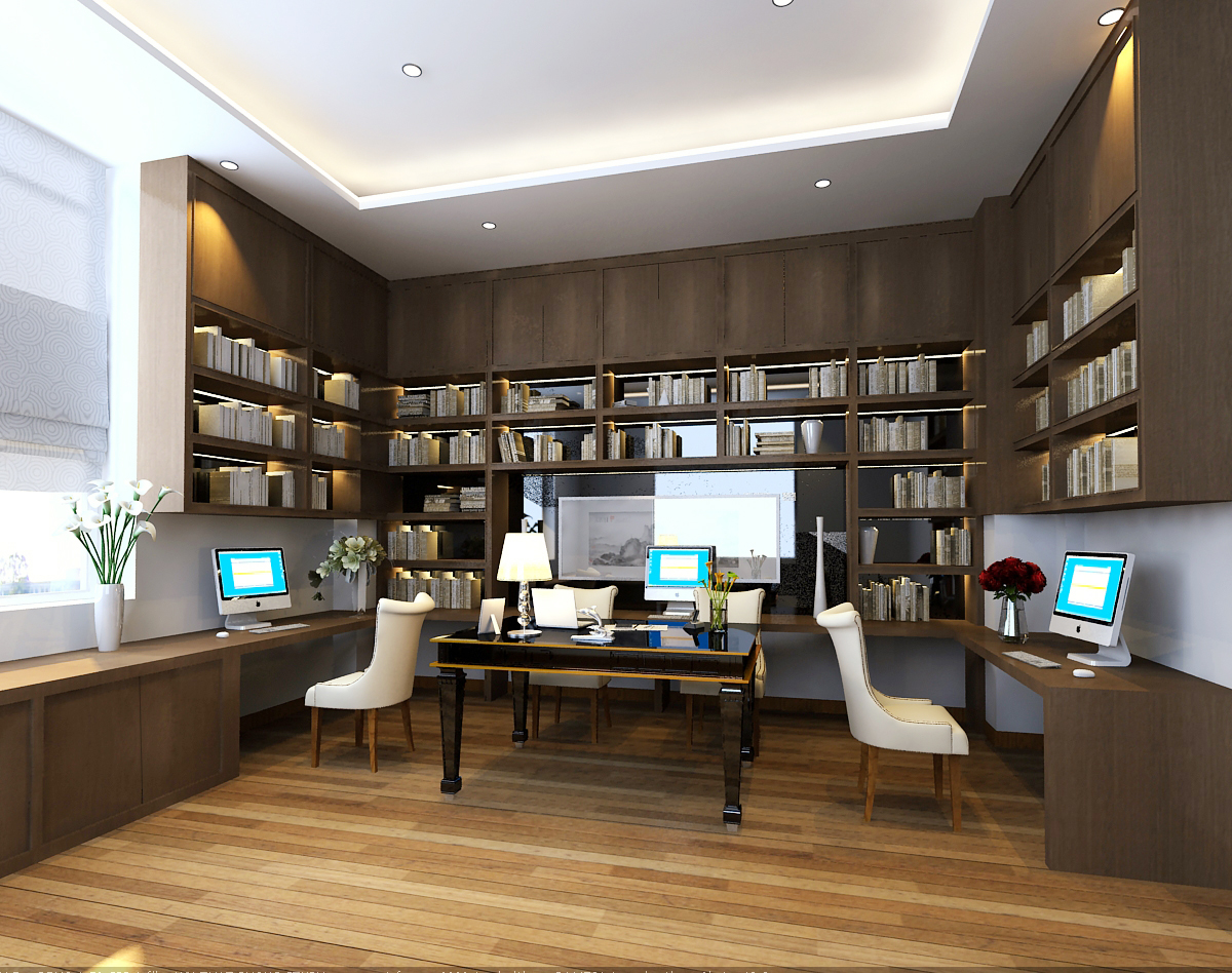 3d models office scene photoreal 3d model max - Learn interior design at home virtually ...
