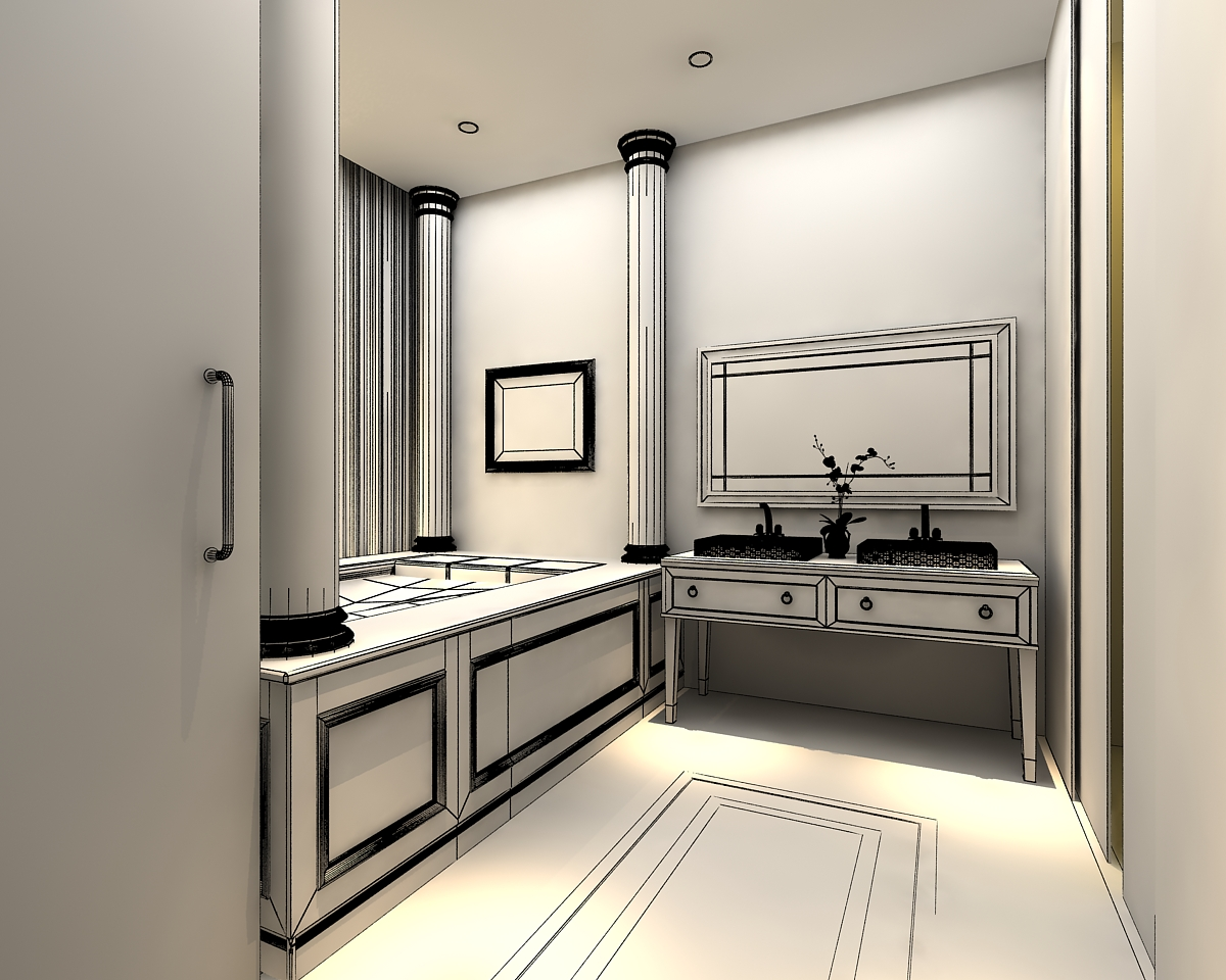 3d models photoreal bathroom 3d model max for Bathroom models photos