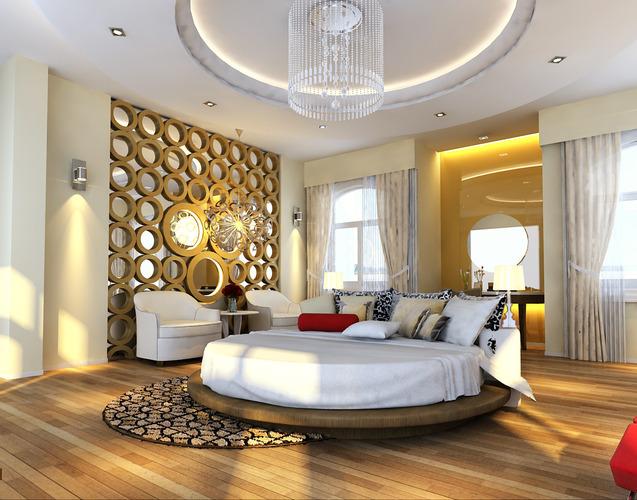 Very luxury bedroom 3d model max cgtrader com - 3d Models Photoreal Bedroom Floor Apartment 3d Model Max