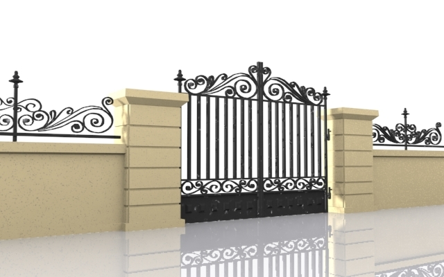 3d model door doors iron wrought antiguo gate fence. all 3dmodels com Sharing 3D Models flawlessy through all marketplaces
