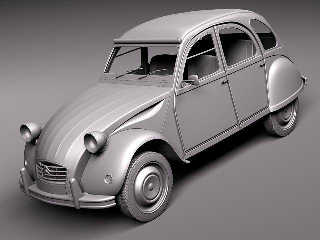 citroen 2cv 1948-1990 3d model  max  obj  3ds  fbx  c4d  lwo  lw  lws