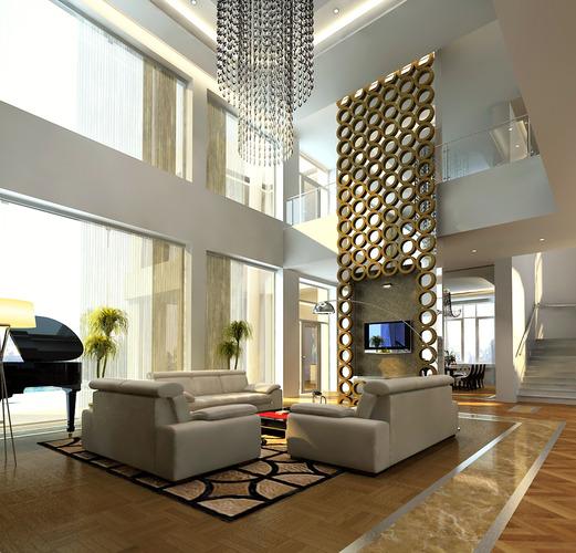 3D Models Photoreal House Rooms Cutaway3D model