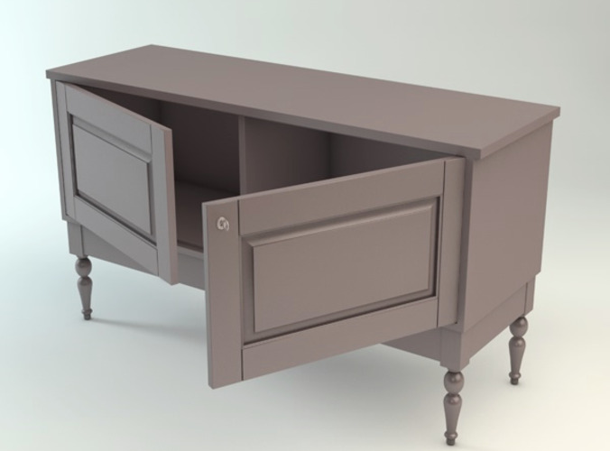 Ikea isala sideboard 3d models for Sideboard 3d