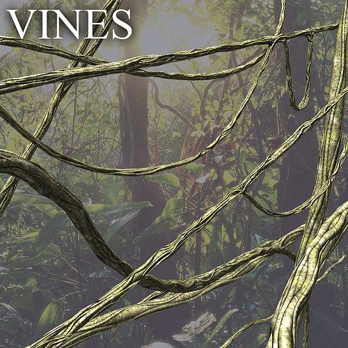 vines 3d model low-poly max obj mtl fbx ma mb ztl tga 1