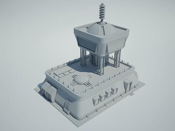 Futuristic Sci Fi Building 33D model
