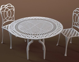 Bestro Table & Chairs 3D Model