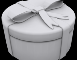 3D print model Gift box round