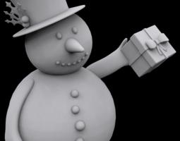 3d printable model snowman gift ornament