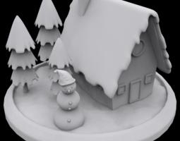 winter house 3d print model