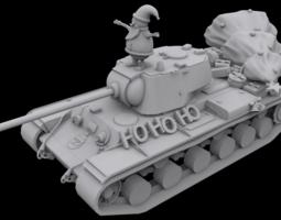 Santa Tank 3D Model