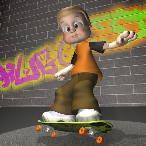 Cartoon Boy Rigged3D model