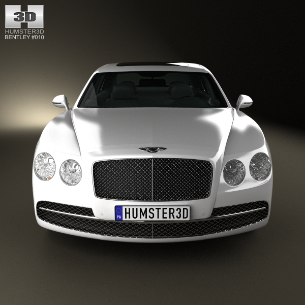 Bentley 2014: Bentley Flying Spur 2014 3D Model MAX OBJ 3DS FBX C4D LWO