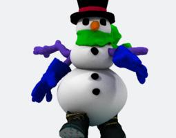 1-snowman solid 3d printable model
