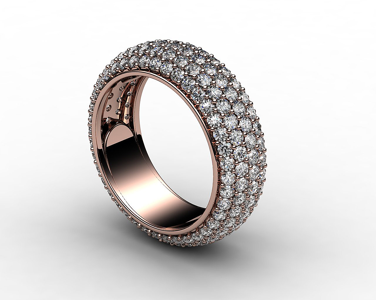 Jewel Ring In White Gold With Full Diamond 3d Model 3d