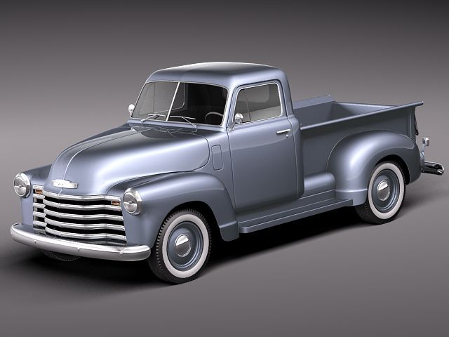chevrolet pickup 1950 3d model max obj 3ds fbx c4d lwo lw lws. Black Bedroom Furniture Sets. Home Design Ideas