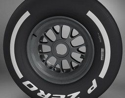 f1 tyre medium front 3d model