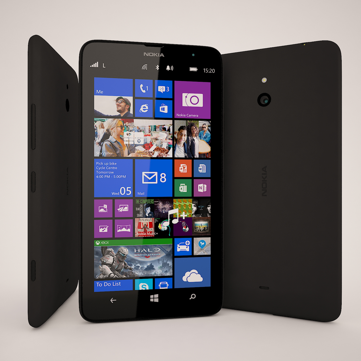 Nokia Lumia 1320 Black 3d Model Max Obj 3ds Fbx