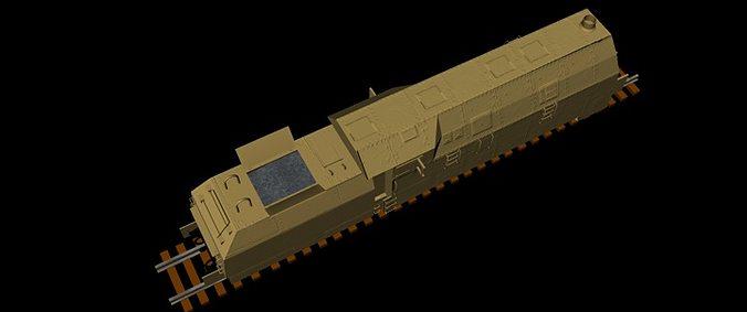 German WKII Panzerlok BR 57 3D Model FBX | CGTrader.com